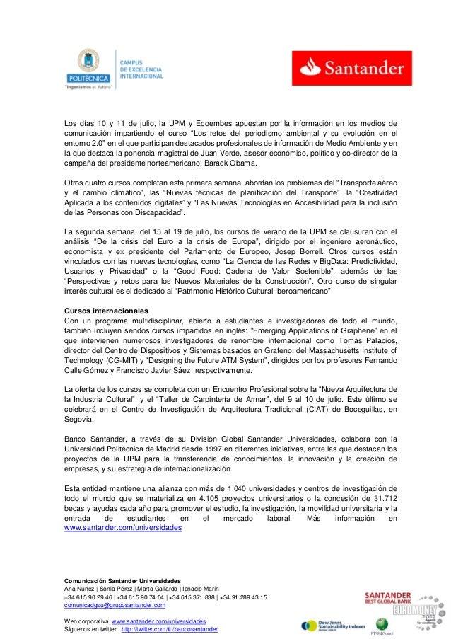 Se inauguran los Cursos de Verano de la Universidad Politécnica de Madrid Slide 2