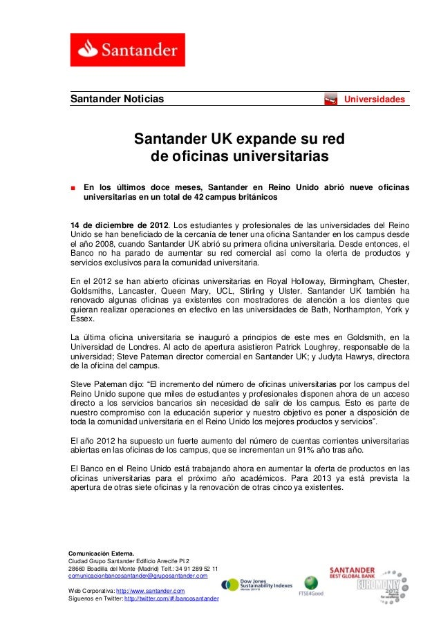 Santander Noticias                                                       Universidades                        Santander UK...