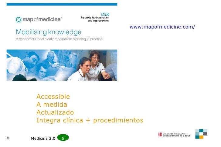 www.mapofmedicine.com/ Accessible A medida Actualizado Integra clínica + procedimientos Medicina 2.0  5