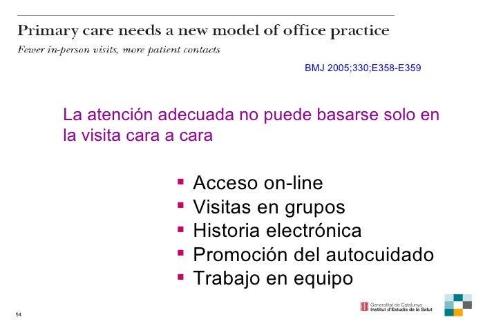 BMJ 2005;330;E358-E359 La atención adecuada no puede basarse solo en la visita cara a cara  <ul><li>Acceso on-line </li></...