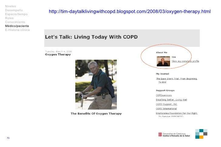 http://tim-daytalklivingwithcopd.blogspot.com/2008/03/oxygen-therapy.html Niveles Desempeño Espacio/tiempo Roles Conocimie...