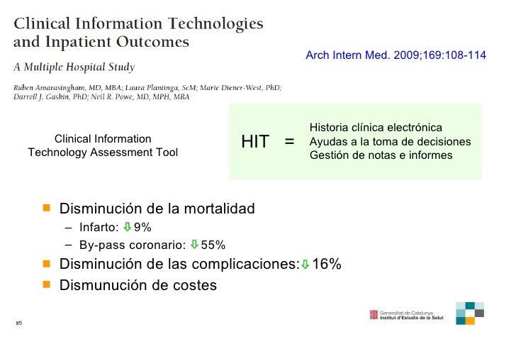 <ul><li>Disminución de la mortalidad </li></ul><ul><ul><li>Infarto:   9% </li></ul></ul><ul><ul><li>By-pass coronario:  ...