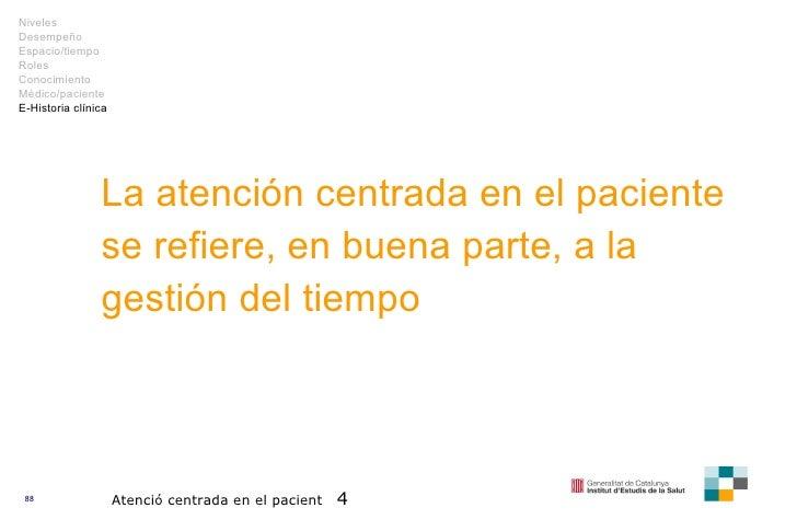 La atención centrada en el paciente se refiere, en buena parte, a la gestión del tiempo Atenció centrada en el pacient  4 ...