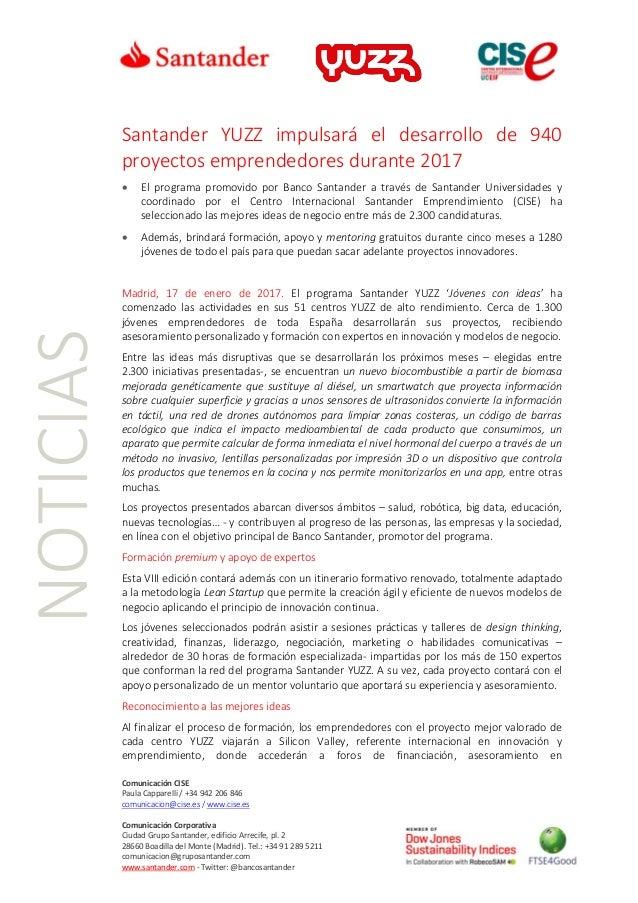 Comunicación CISE Paula Capparelli / +34 942 206 846 comunicacion@cise.es / www.cise.es Comunicación Corporativa Ciudad Gr...