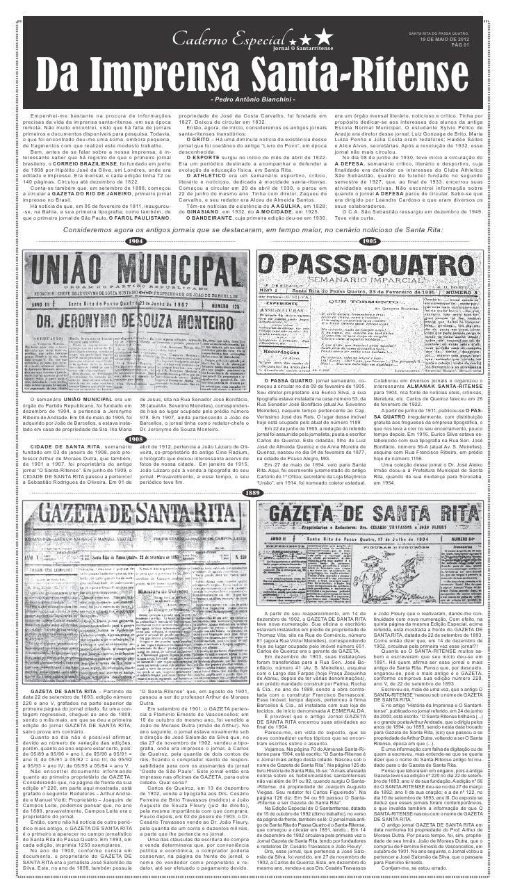 Caderno Especial                              Jornal O Santarritense                                                      ...