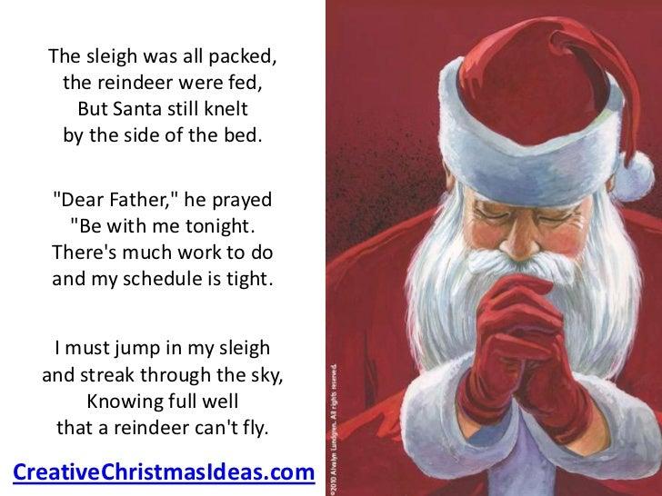 Santa S Prayer On Christmas Eve
