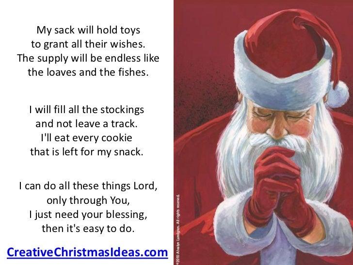 Santa's prayer on Christmas eve