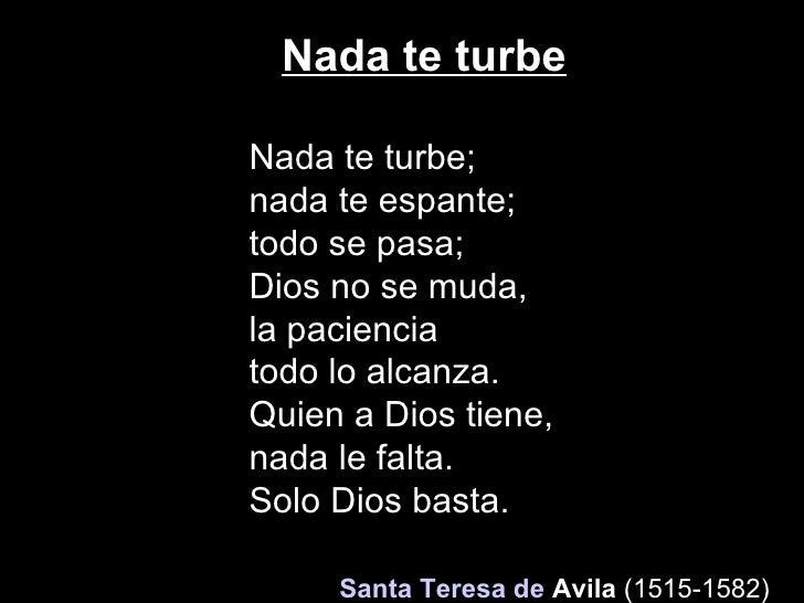 Santa Teresa De Jesus Que Nada Te Turbe