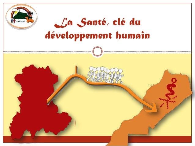 La Santé, clé du développement humain