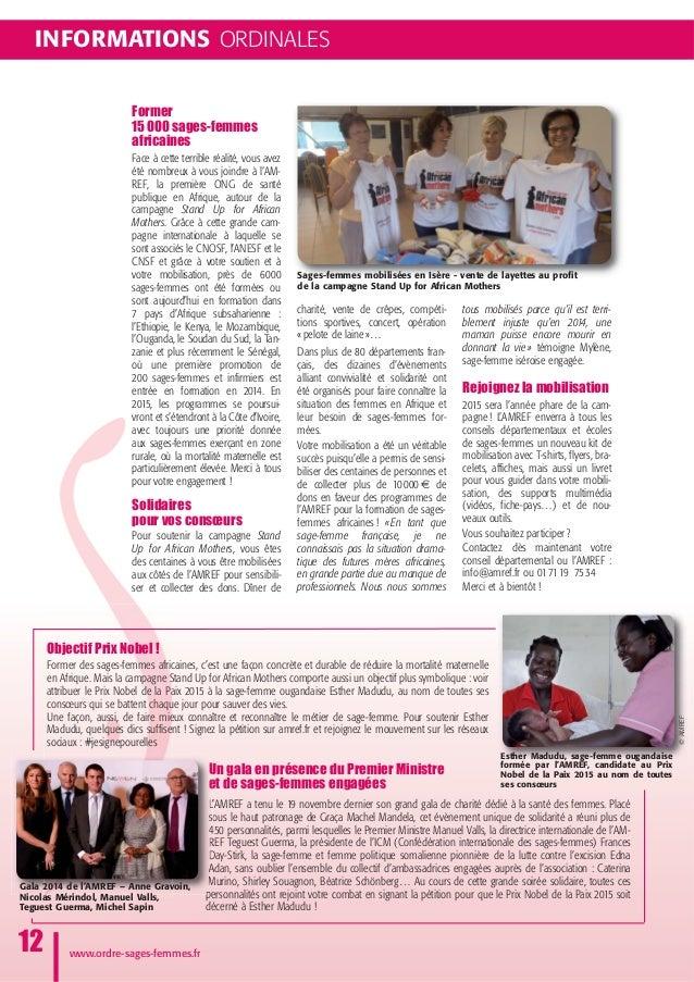 INFORMATIONS ORDINALES www.ordre-sages-femmes.fr 12 Sages-femmes mobilisées en Isère - vente de layettes au profit de la c...