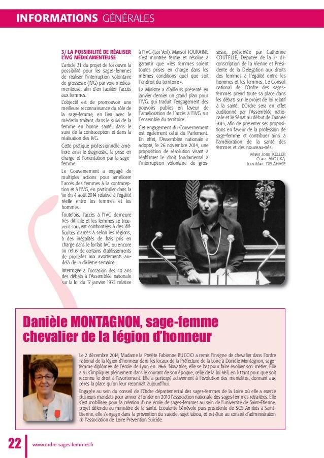 3/ LA POSSIBILITÉ DE RÉALISER L'IVG MÉDICAMENTEUSE L'article 31 du projet de loi ouvre la possibilité pour les sages-femme...