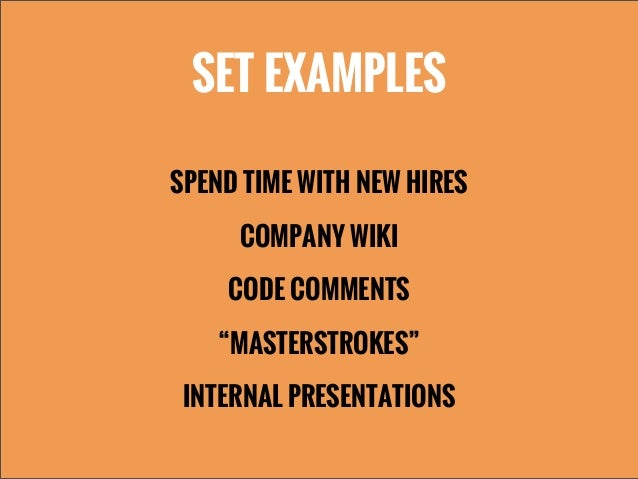 """SET EXAMPLESSPEND TIME WITH NEW HIRESCOMPANY WIKICODE COMMENTS""""MASTERSTROKES""""INTERNAL PRESENTATIONS"""