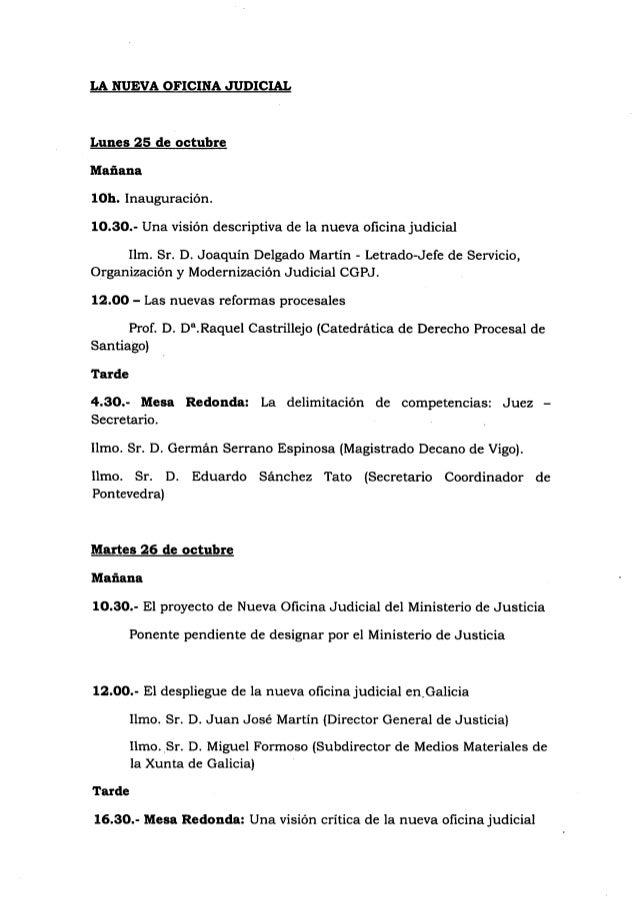 Formaci n sobre oficina judicial organizada por el cgpj en for Oficina judicial