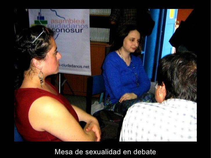 Mesa de sexualidad en debate