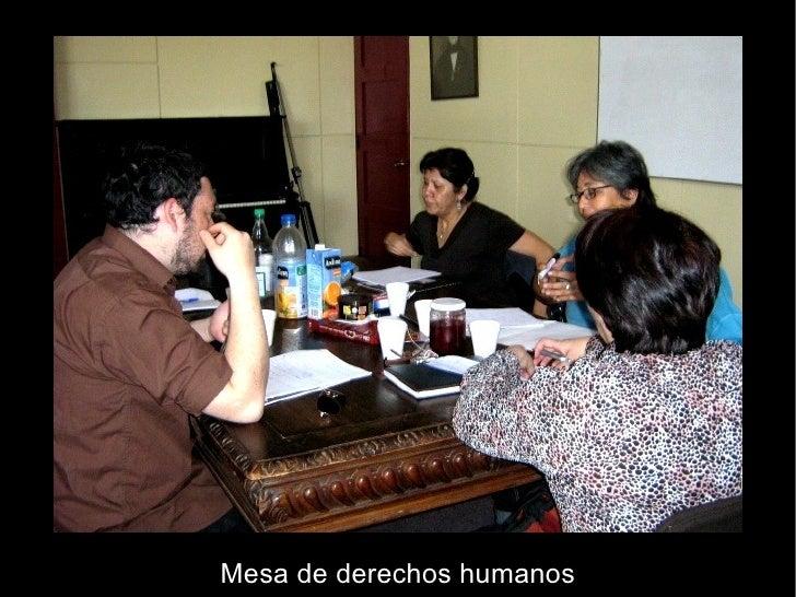 Mesa de derechos humanos
