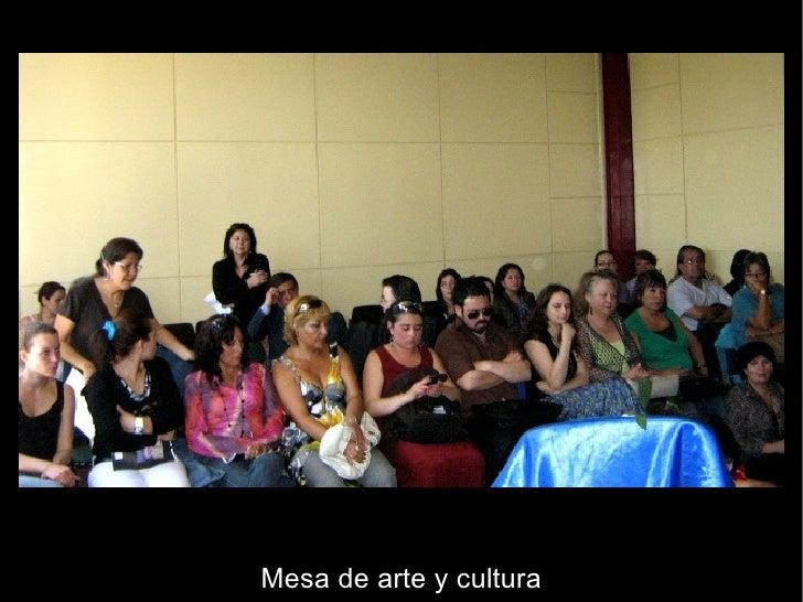 Mesa de arte y cultura