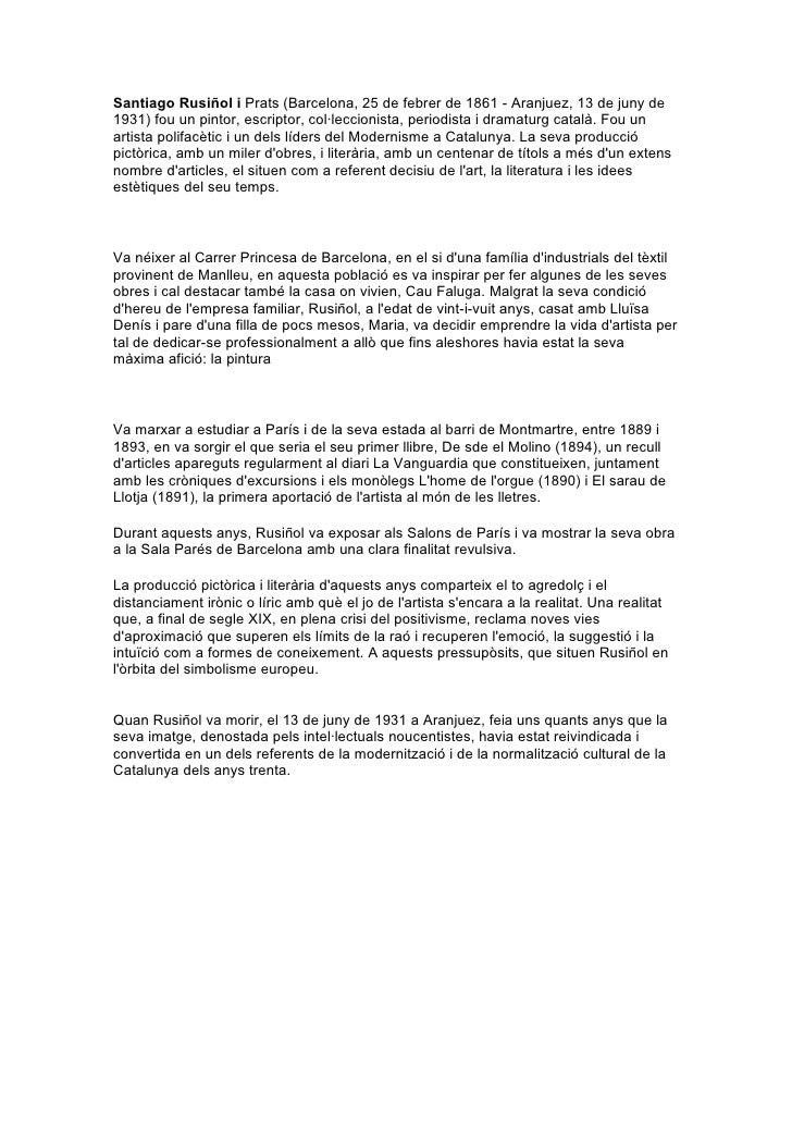 Santiago rusiñol i prats   biografia