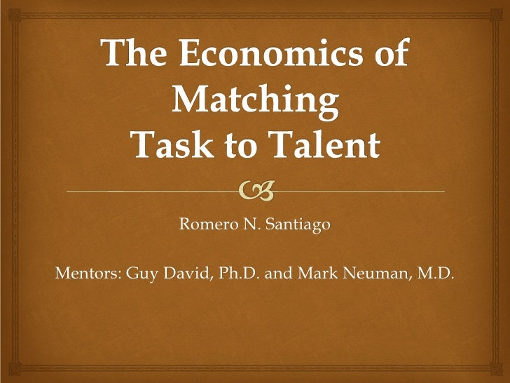 Romero N. SantiagoMentors: Guy David, Ph.D. and Mark Neuman, M.D.