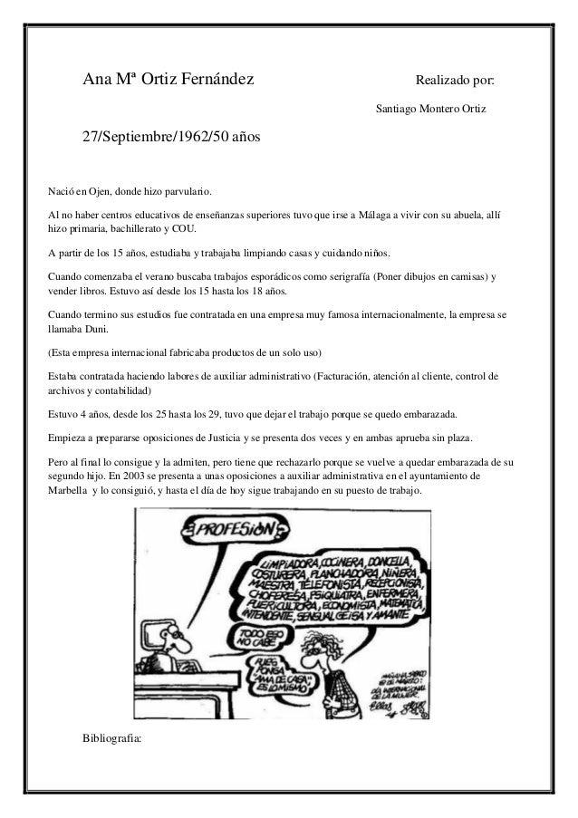 Ana Mª Ortiz Fernández                                                         Realizado por:                             ...