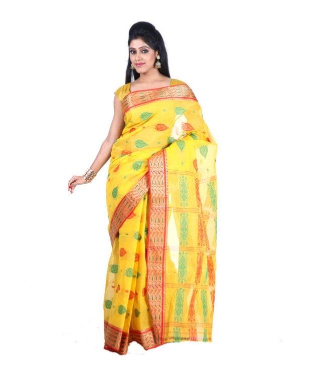 Santipur Tant Saree Manufacturer Wholesaler Delhi India