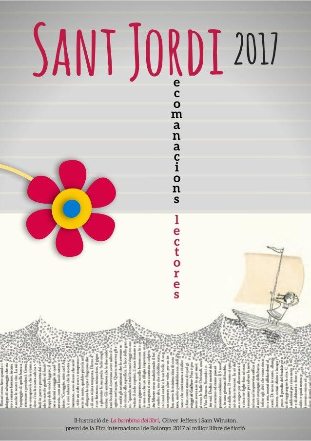 SantJordi2017 e c o m a n a c i o n s l e c t o r e s Il·lustració de La bambina dei libri, Oliver Jeffers i Sam Winston...