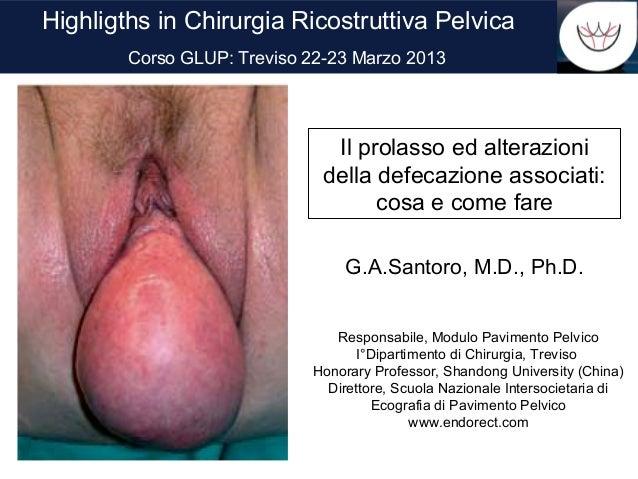 Highligths in Chirurgia Ricostruttiva Pelvica        Corso GLUP: Treviso 22-23 Marzo 2013                               Il...