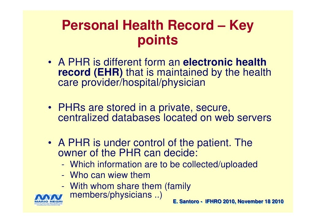personal health record and web 2 0