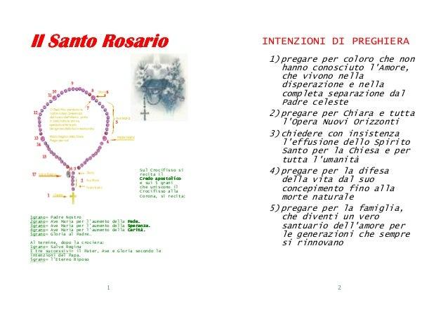 Il Santo Rosario                                                 INTENZIONI DI PREGHIERA                                  ...