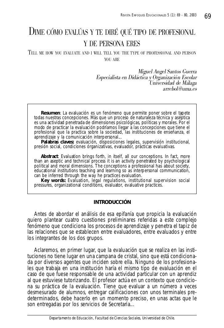 REVISTA ENFOQUES EDUCACIONALES 5 (1): 69 - 80, 2003                                                                       ...