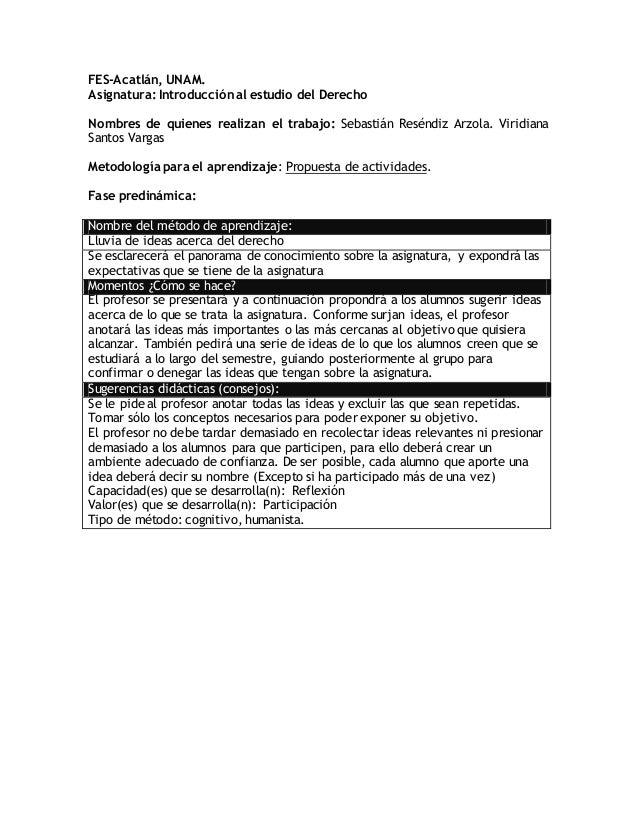 FES-Acatlán, UNAM. Asignatura: Introducción al estudio del Derecho Nombres de quienes realizan el trabajo: Sebastián Resén...