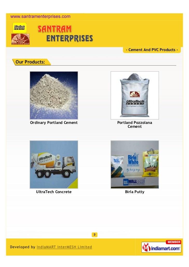Portland Pozzolana Cement : Santram enterprises vadodara cement