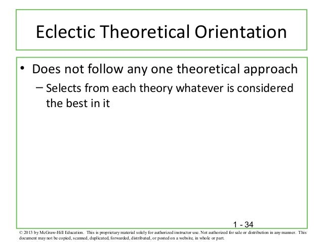 eclectic theoretical orientation Eclectic theoretical orientation.