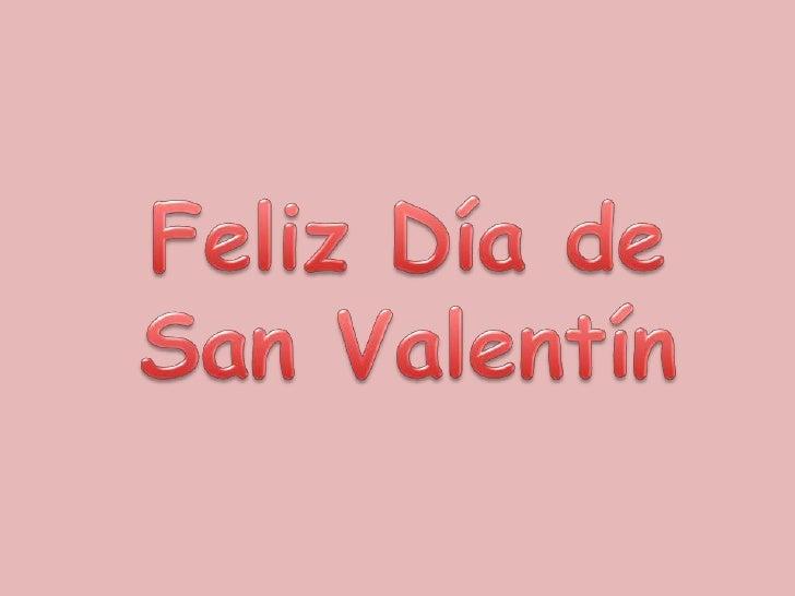 Feliz Día de San Valentín<br />