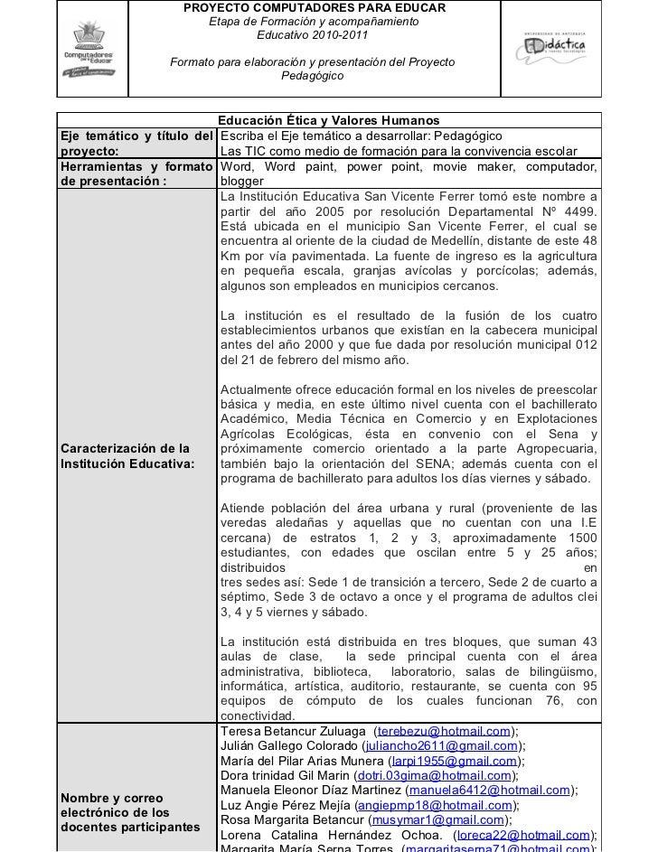 PROYECTO COMPUTADORES PARA EDUCAR                       Etapa de Formación y acompañamiento                               ...