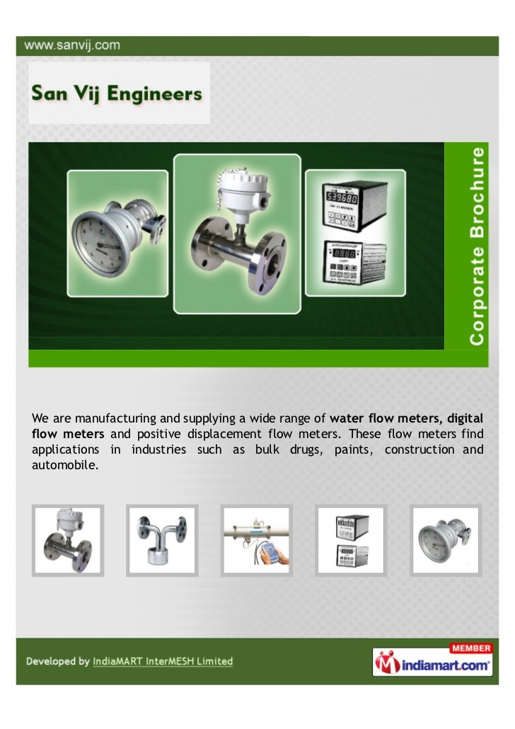 We are manufacturing and supplying a wide range of water flow meters, digitalflow meters and positive displacement flow me...