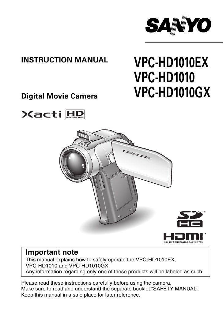 INSTRUCTION MANUAL                                                VPC-HD1010EX                                            ...