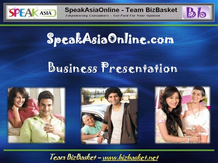 SpeakAsiaOnline.com<br />Business Presentation<br />Team BizBasket – www.bizbasket.net<br />