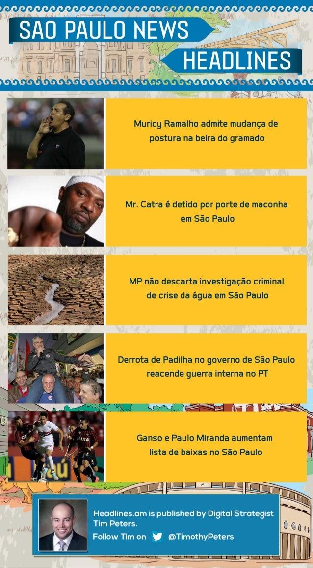 Muricy Ramalho admite mudança de  postura na beira do gramado  Mr. Catra é detido por porte de maconha  em São Paulo  MP n...