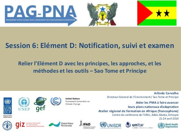 Aider les PMA à faireavancer leurs plans nationaux d'adaptation Atelier régional de formation en Afrique (francophone) Cen...