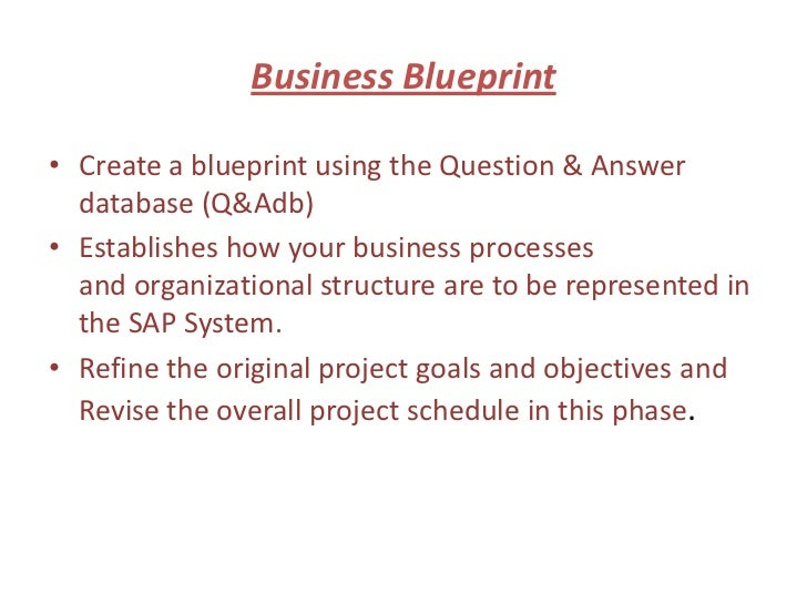 Sap business blueprint malvernweather Choice Image