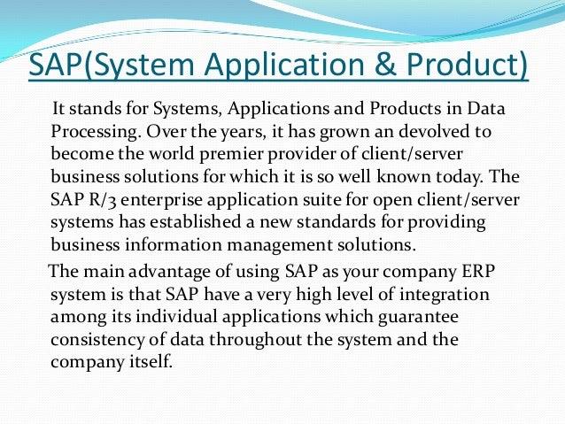 sap system application product Sap