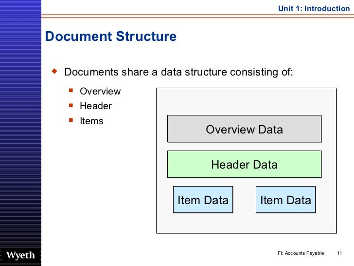 Document Structure <ul><li>Documents share a data structure consisting of:  </li></ul><ul><ul><li>Overview </li></ul></ul>...