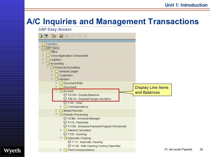 A/C Inquiries and Management Transactions Display Line Items and Balances