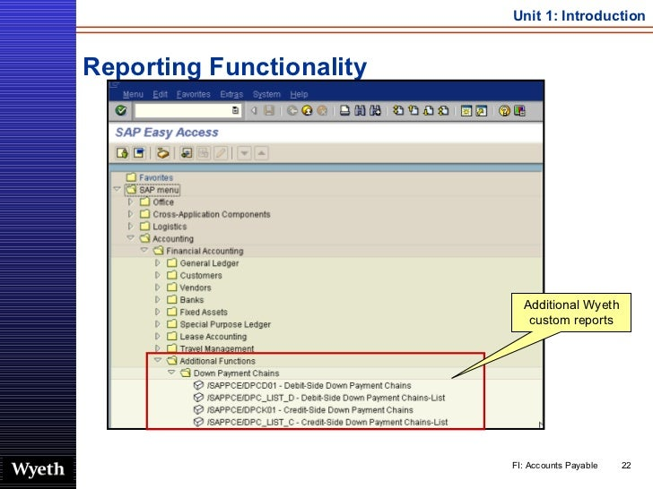 Reporting Functionality Additional Wyeth custom reports