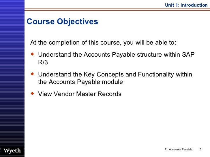 Course Objectives <ul><li>At the completion of this course, you will be able to: </li></ul><ul><li>Understand the Accounts...