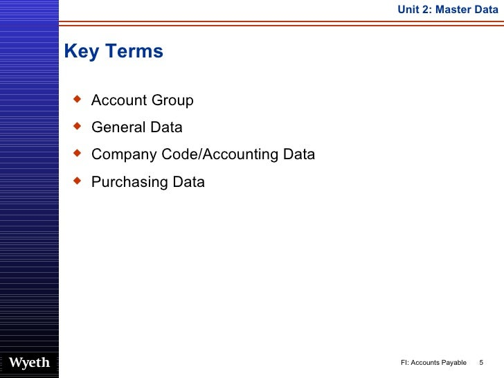 SAP Accounts Payable Master Data   http://sapdocs info