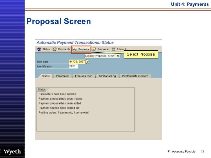 SAP Accounts Payable Payment | http://sapdocs.info