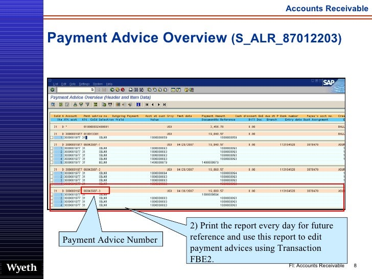 SAP Accounts Reveivable Financial Transaction | http://sapdocs info