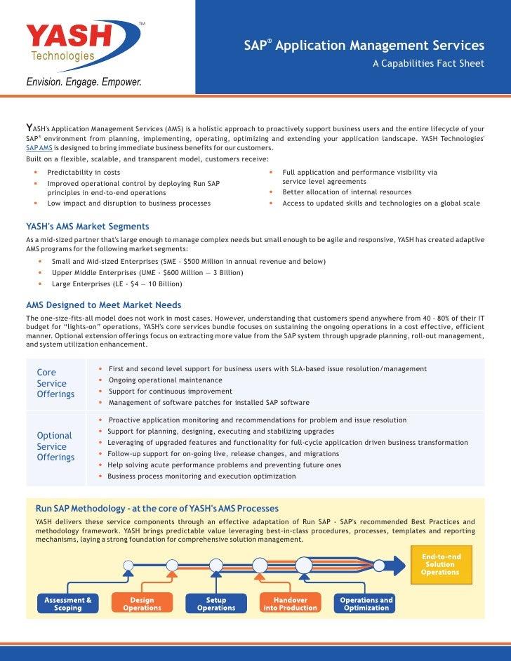 sap business application management fact sheet yash