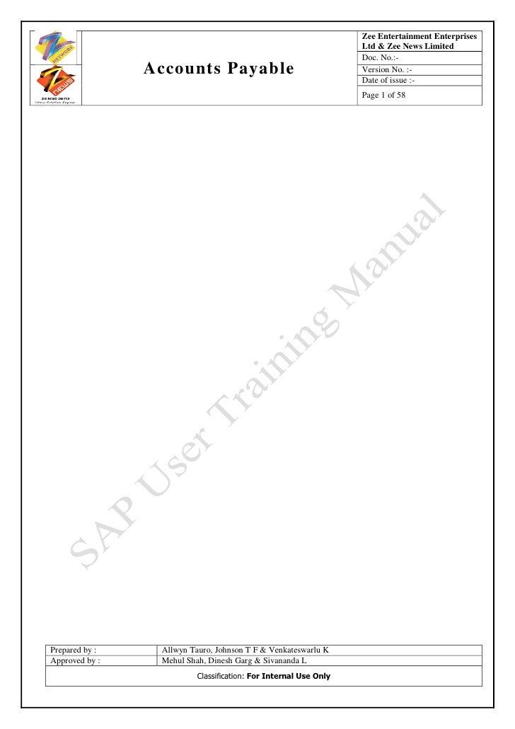 Sap ap-user-training-tutorial